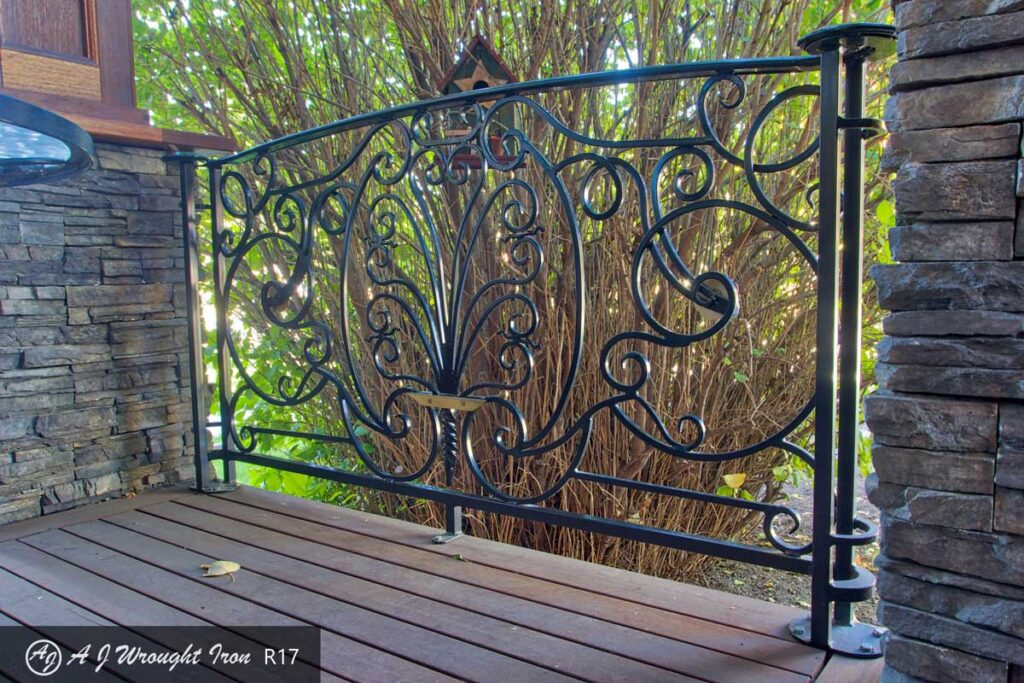 ornamental wrought iron deck railing