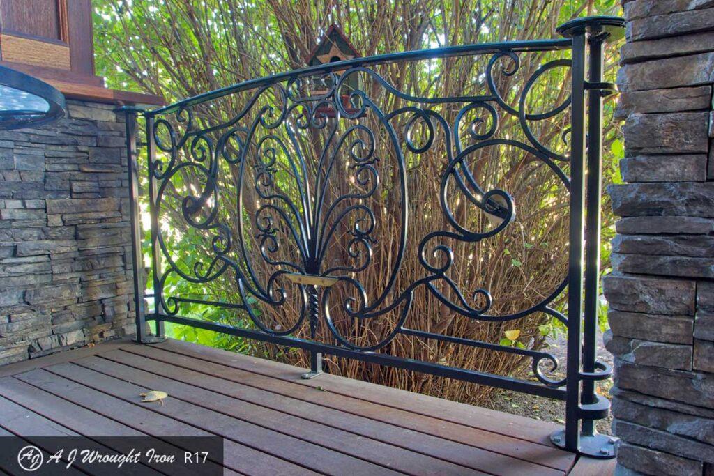 ornamental wrought iron deck railing