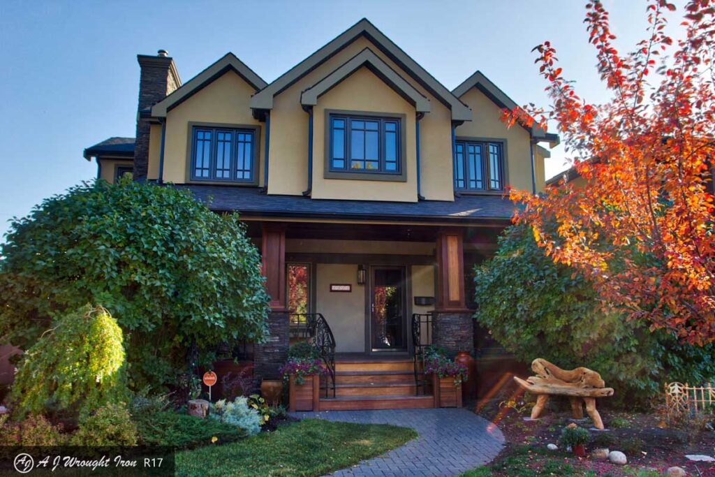 stylish Calgary home with iron railings