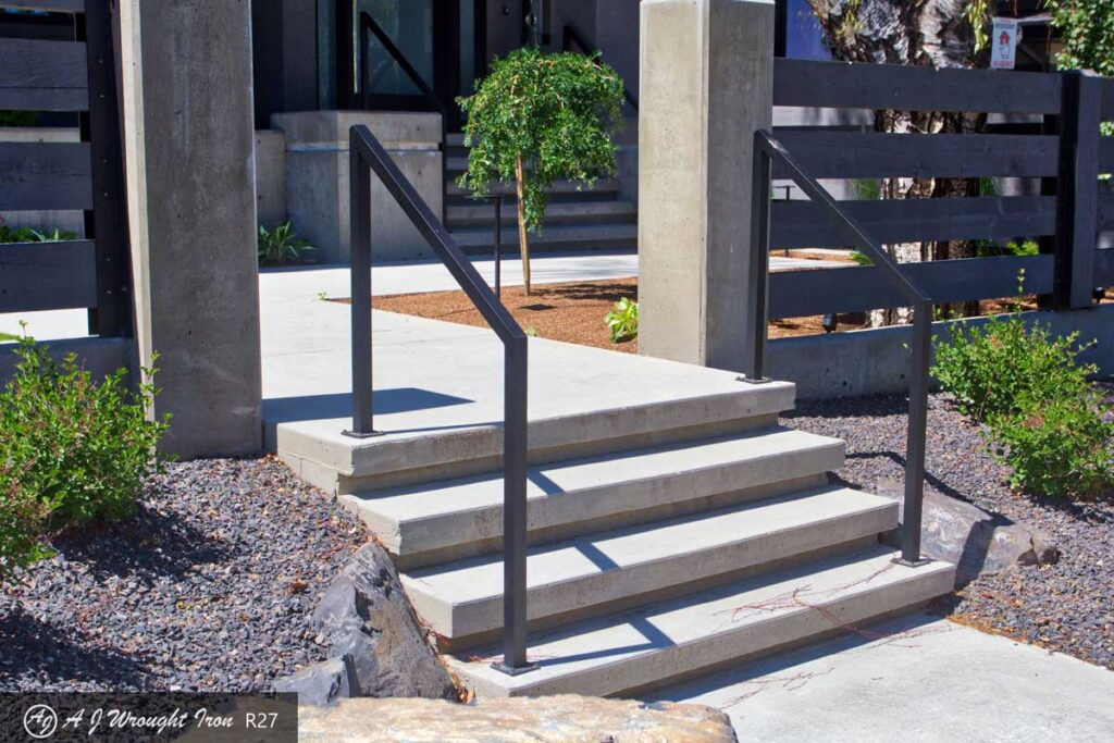 Simple Modern Step Railing Aj Wrought Iron
