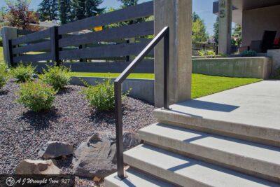 simple modern exterior railing