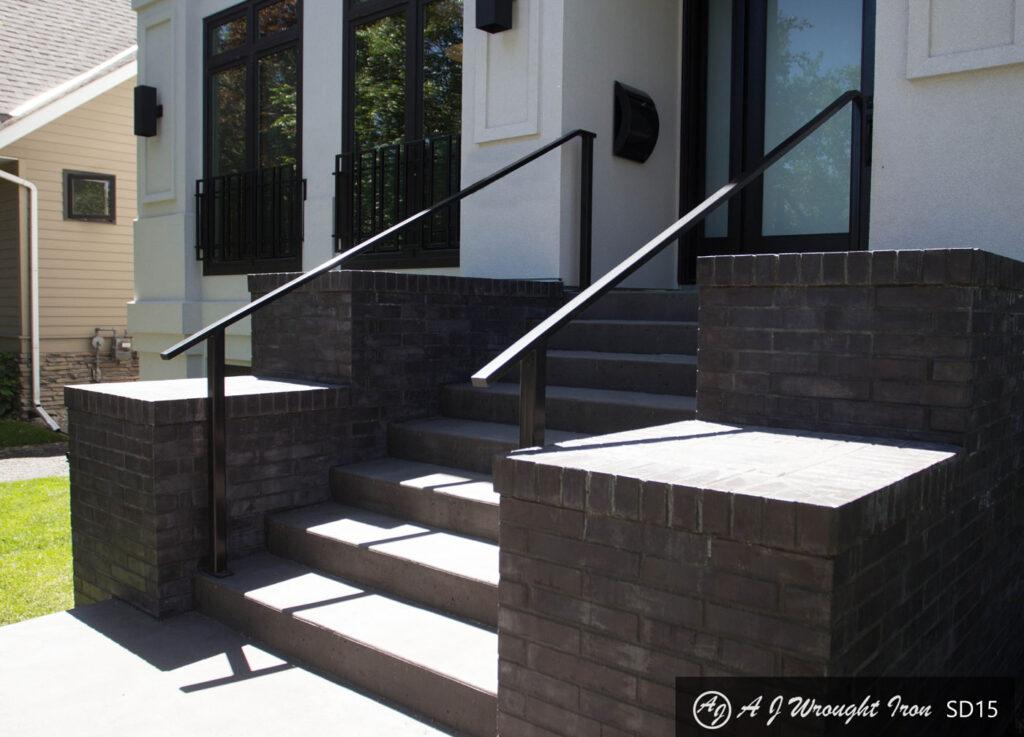 Minimalist Front Door Railing