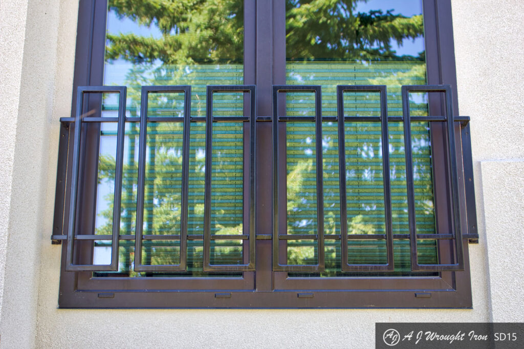 Modern Iron Window Security Grill