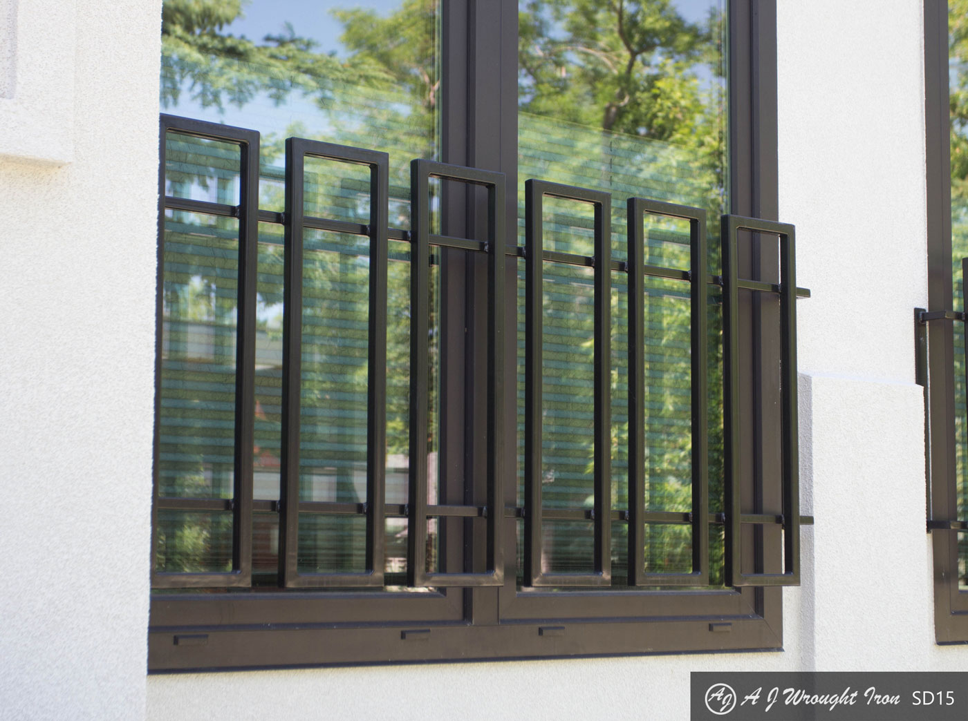 Modern Contemporary Exterior Window Bars And Railings Aj