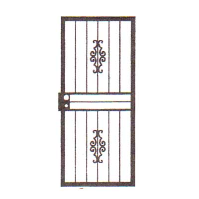 security bars for door - design 01