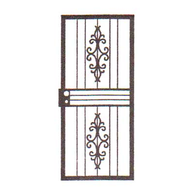 security bars for door - design 03