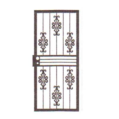 security bars for door - vertical bars with iron castings