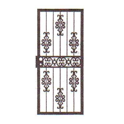 security bars for door - with ornamental castings