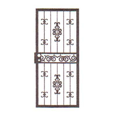 security bars for door - vertical bars with small & medium castings