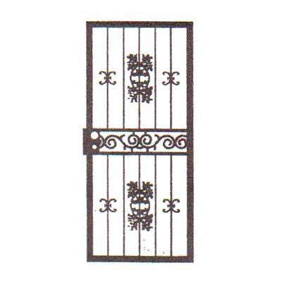 security bars for door - vertical bars with small castings