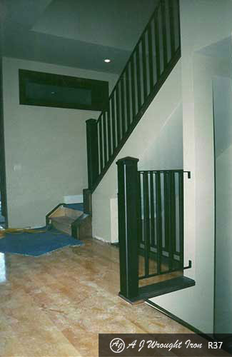 railing - black steel interior staircase