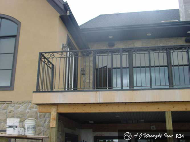 exterior wrought iron balcony railing - grape-vine