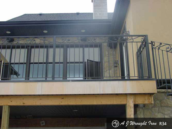 exterior balcony wrought iron railing - grape vine