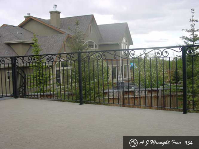 exterior wrought iron balcony railing