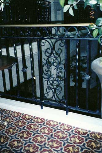 ornamental interior iron railing - Banff Springs Hotel, Alberta
