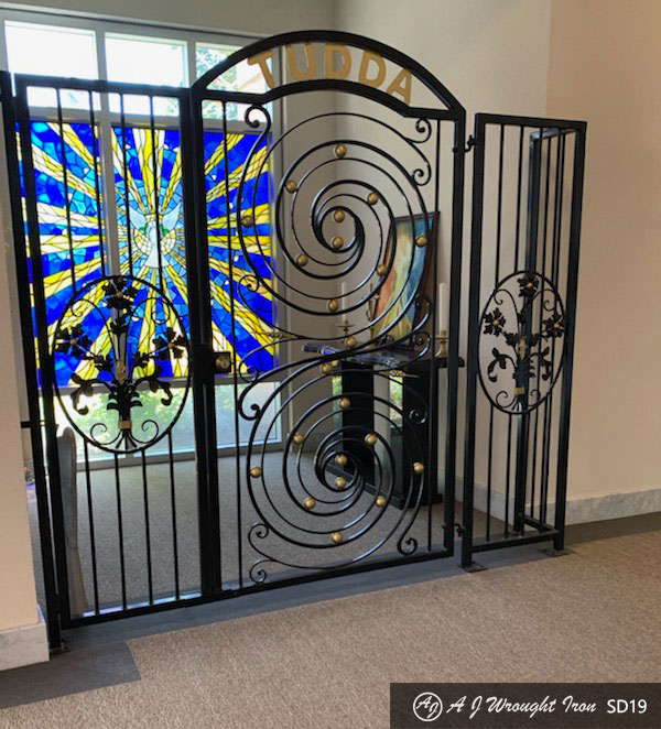 ornamental forged security door - interior gate