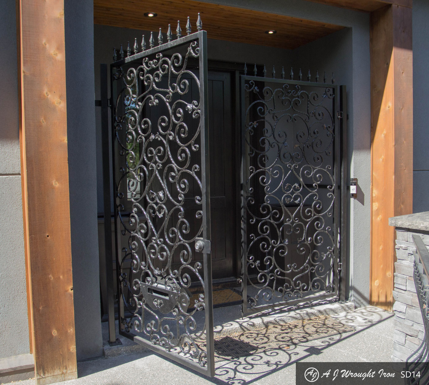 iron door - decorative design