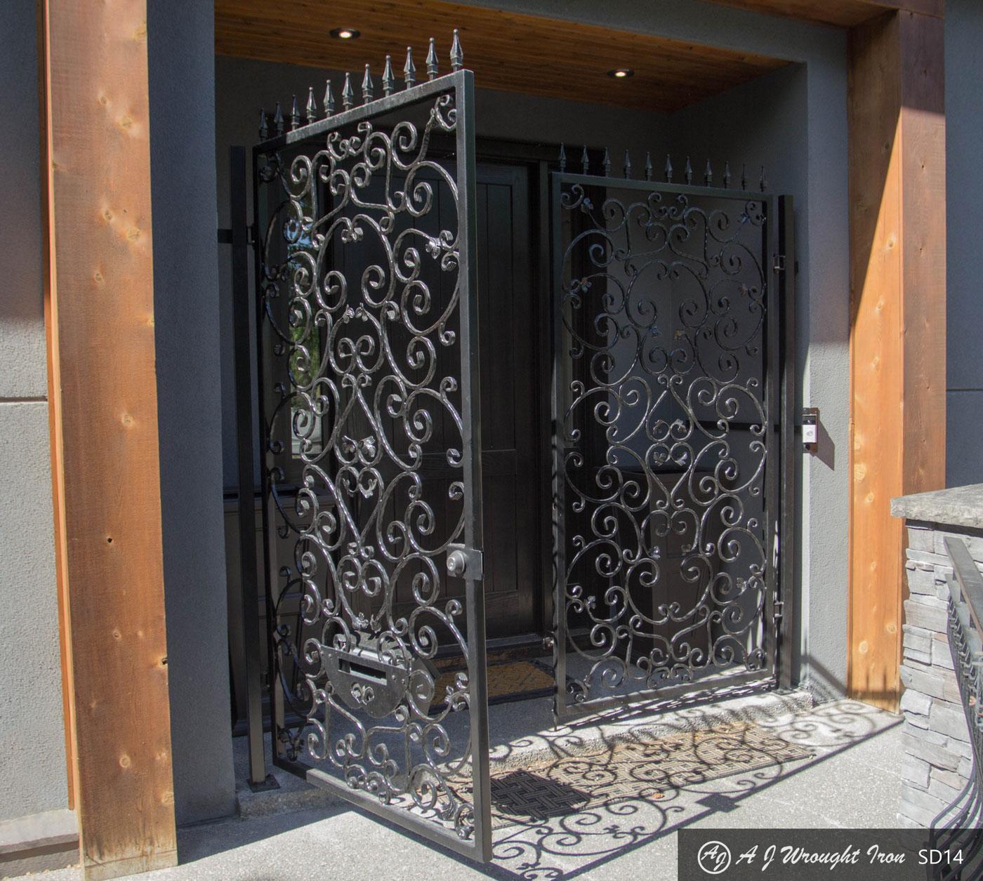 iron door - decorative design