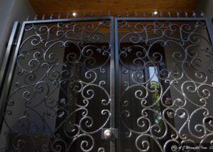 home entry gate with lock