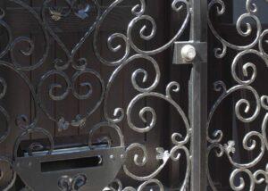 locking iron security gate