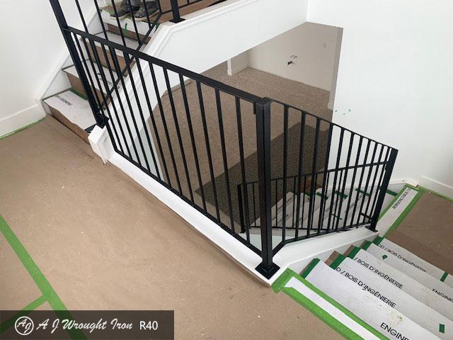 Simple metal staircase railing