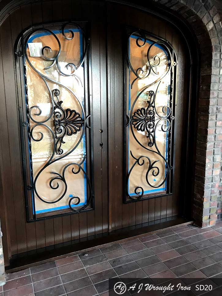 forged iron security door