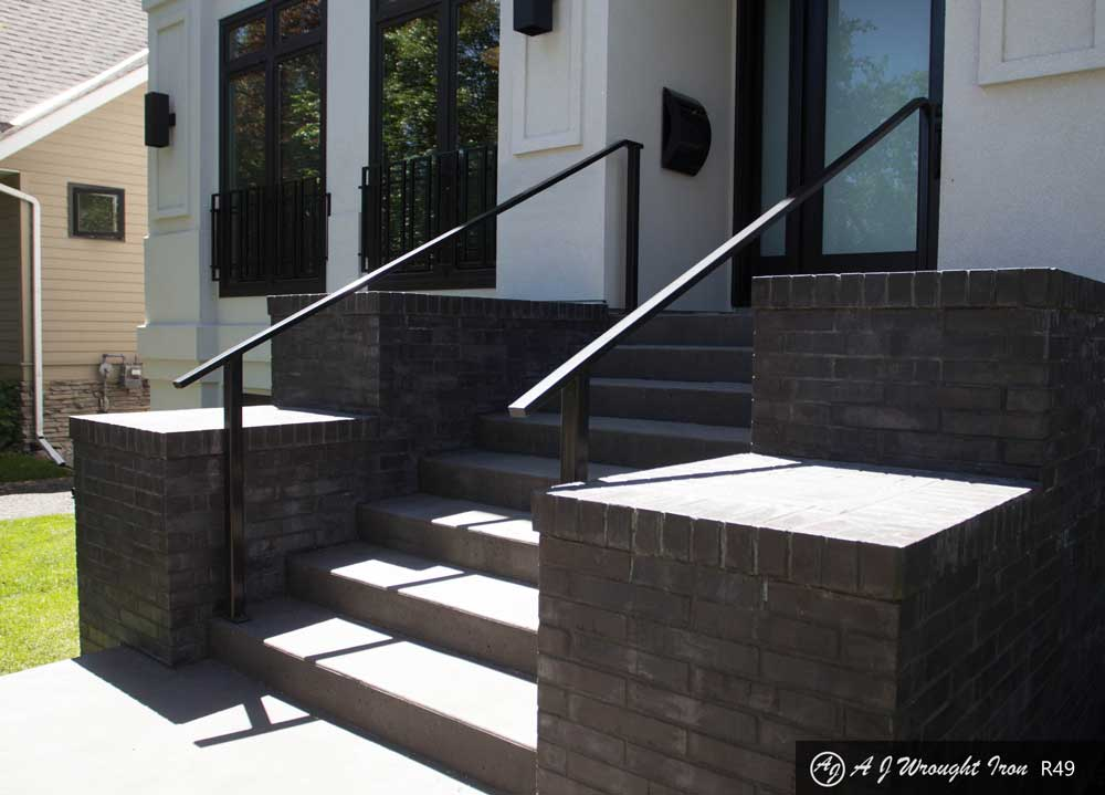 simple metal step railing