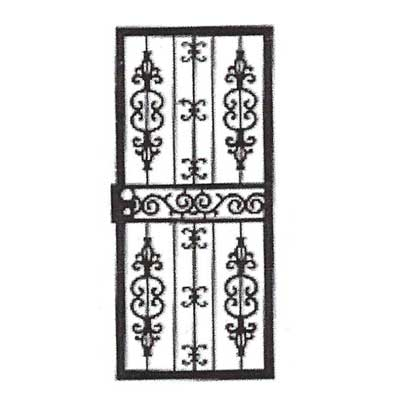 black and white storm door design drawing