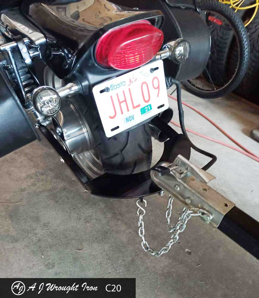 custom motorcycle hitch